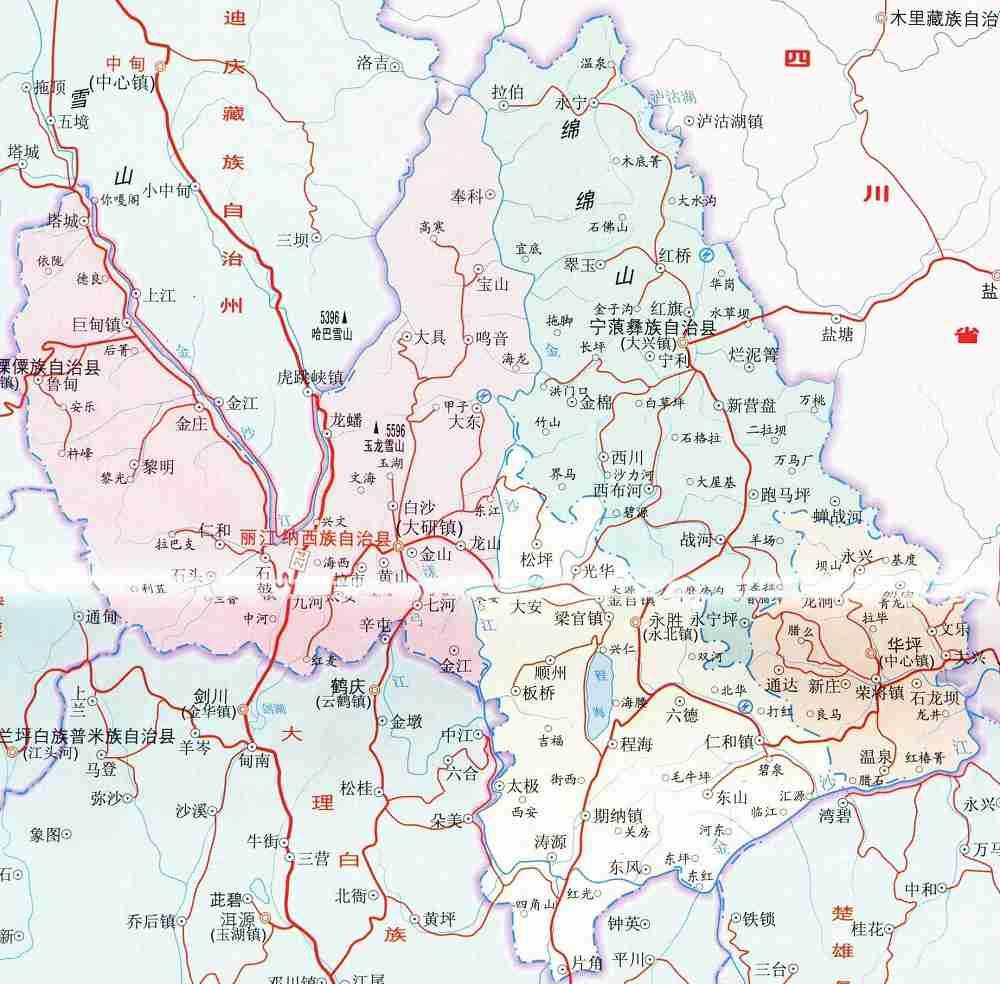 丽江旅游交通图