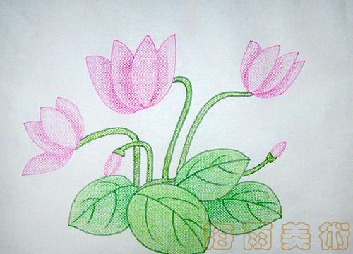 儿童简单植物画