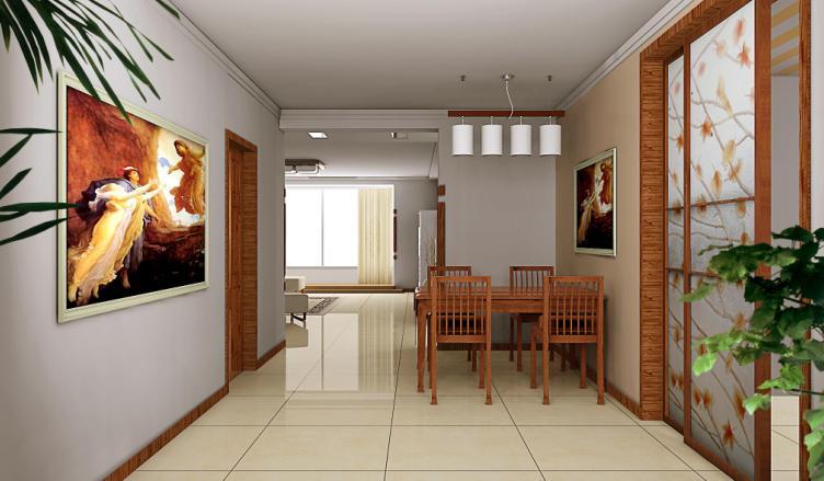 滨河湾小区餐厅效果图-家庭装修篇-秦皇岛大恒装饰