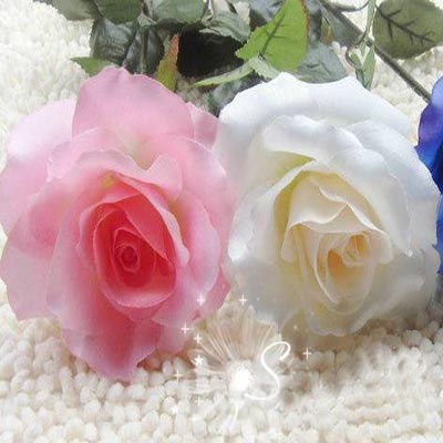玫瑰花    绢花是指用各种颜色