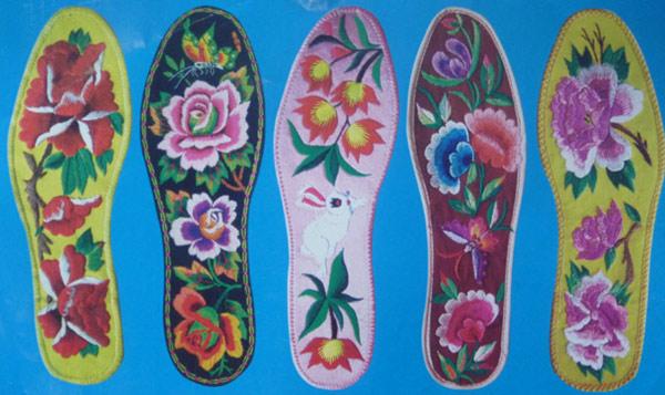 十字绣鞋垫图纸图样毛线10字绣鞋垫图案