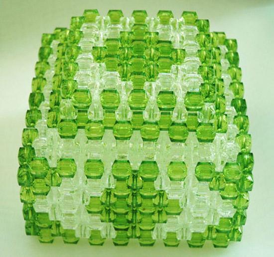 手工串珠10;; 串珠材料包 diy手工艺亚克力串珠糖果盒 收纳盒材料包配