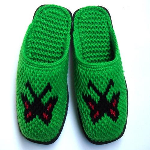 手工毛线拖鞋; 手工编织拖鞋图片