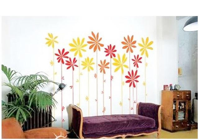手绘沙发墙06