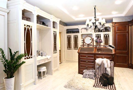 欧式卧室实木柜 - 衣柜系列