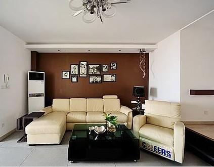 欧式沙发背景玻璃墙