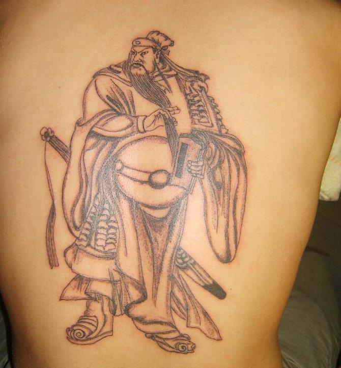 关公- 纹身纹绣 - 新余纹身 纹刺 纹绣 激光洗纹身