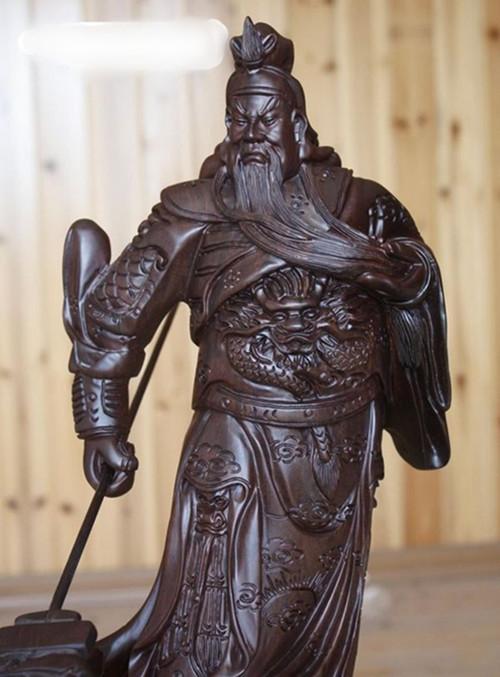 黑檀木木雕关公