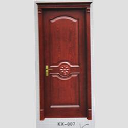 KX-007烤漆实木扣线门