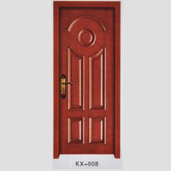 KX-008烤漆实木扣线门