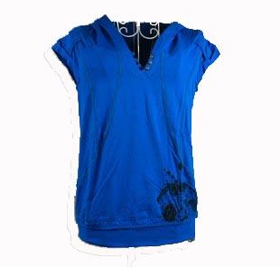 蓝色运动短袖