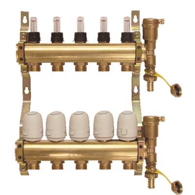 地暖分水器 - 阀门(铜阀门)地暖分