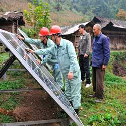 偏远山区安装太阳能系统
