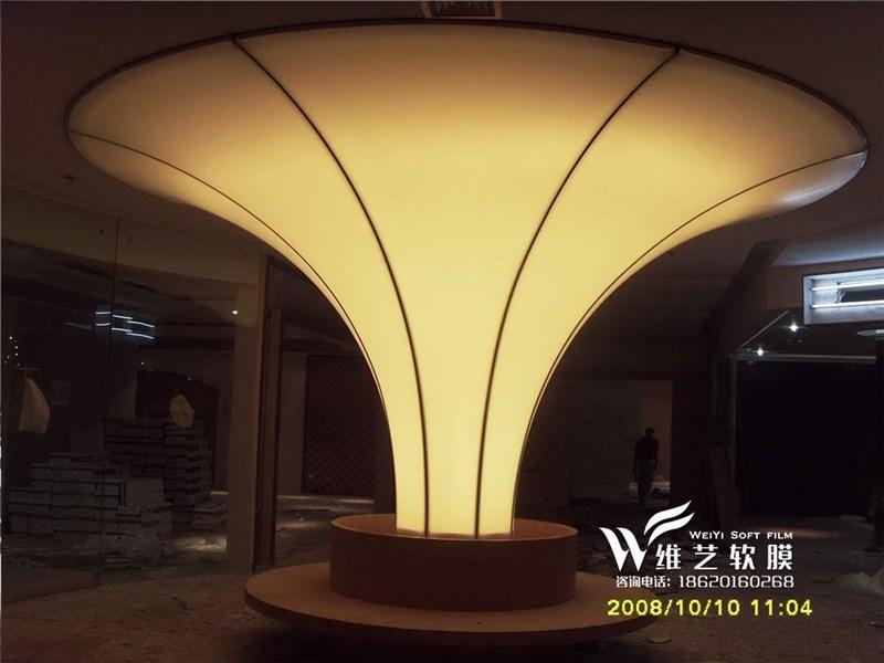 造型软膜吊顶 软膜灯箱|发光软膜灯柱