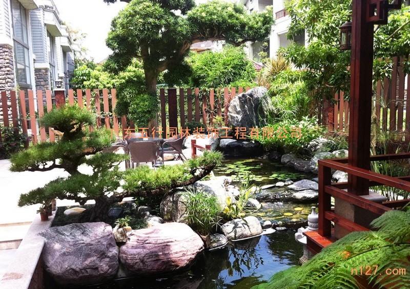 联排别墅花园设计,佛山别墅花园设计