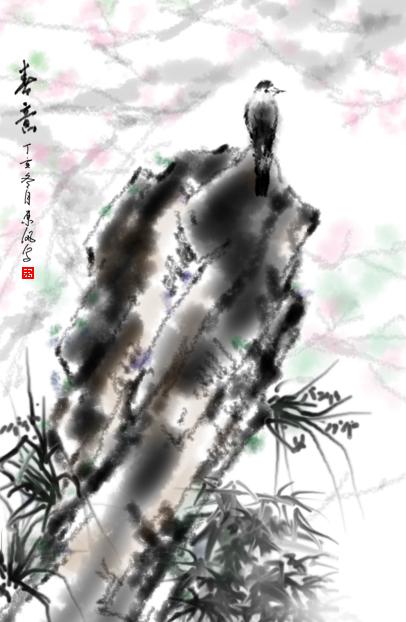 水墨风景图(纵向)