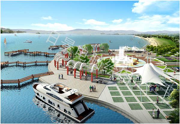 码头景观效果图