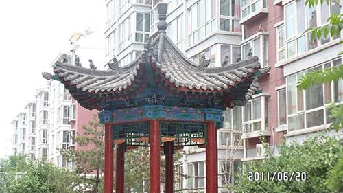 中国建筑是大同古建木结构体系的建筑,所以凉亭也大多是木结构的.