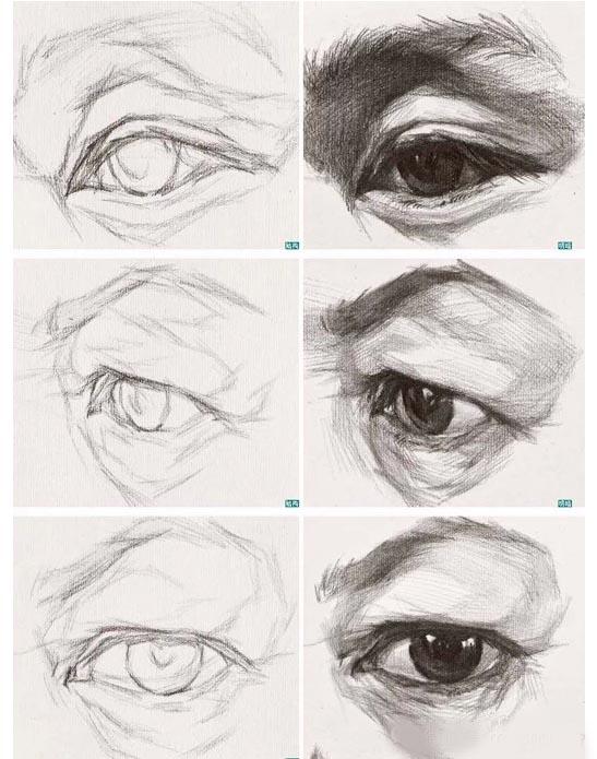 素描微课堂 老师手把手为你详解五官之眼睛