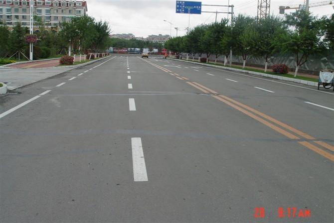 舒兰市区公路标线效果图