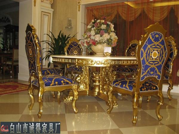 欧式餐桌椅_白山家具_白山沙发