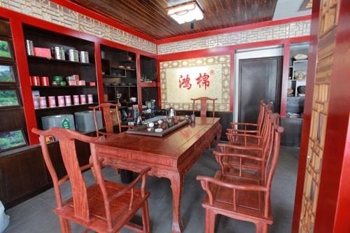 茶室套装_红木茶座_红木茶桌套装_古典红木茶座展厅