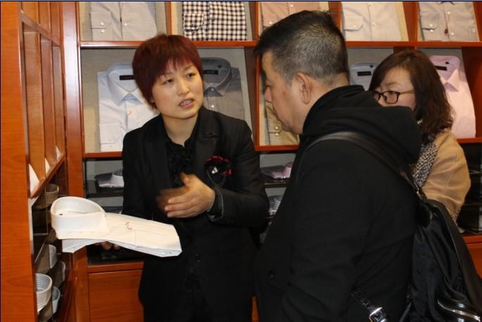 国际著名服装设计师计文波先生到访潍坊国人西服会馆
