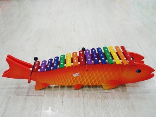 木制鱼型15音琴
