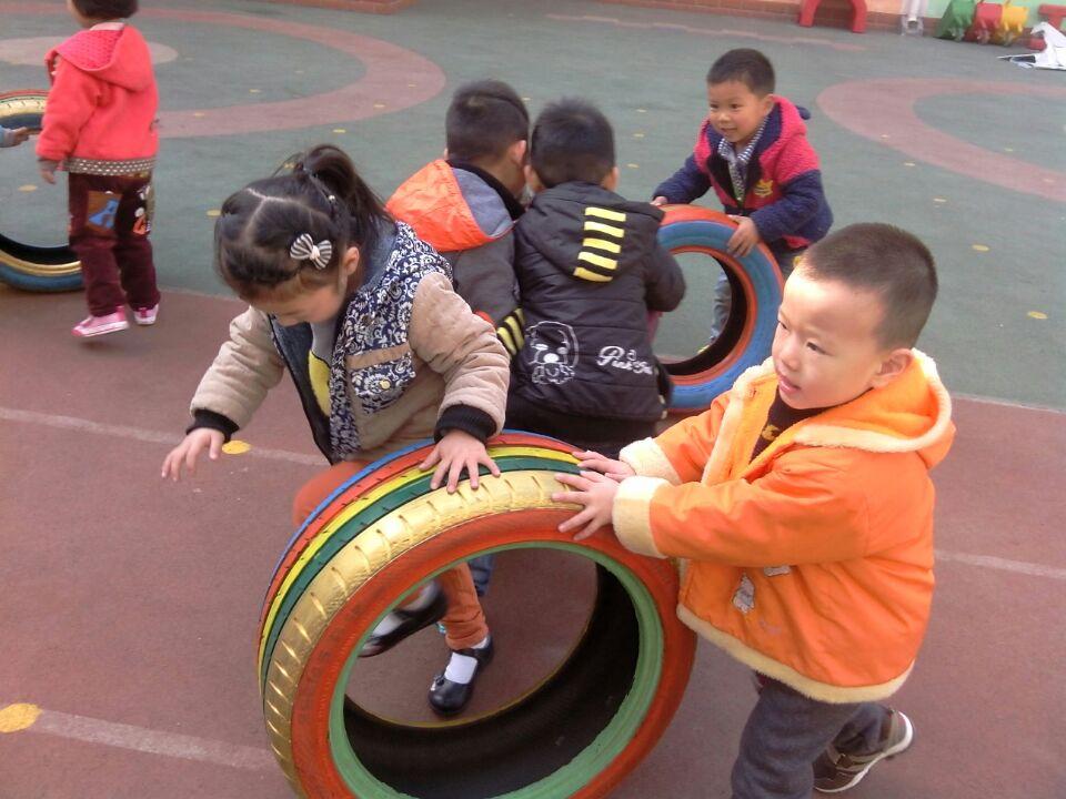 有趣的轮胎_鹤壁实验幼儿园_鹤壁公立幼儿园_河南省园