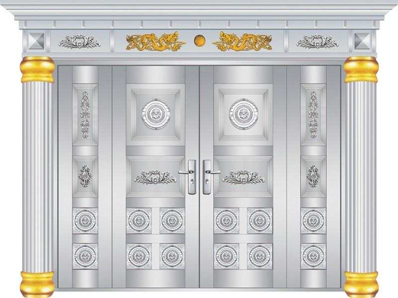不锈钢罗马柱门-18