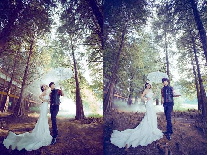 泮坑树林_梅州婚纱摄影_梅州婚纱影楼_梅州东方星婚纱