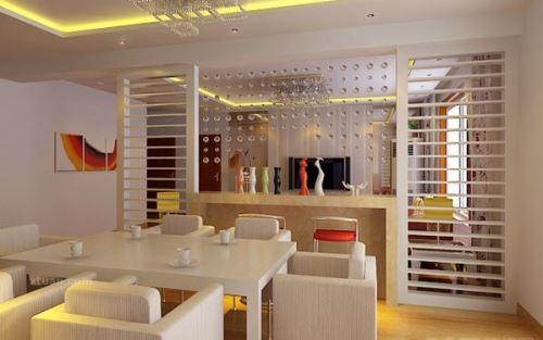 客厅与餐厅布置之艺术的空间隔断