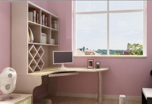 装修卧室效果图之卧室书架变形记