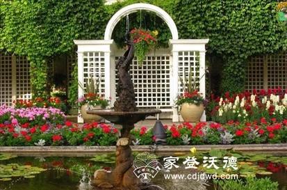 别墅庭院 私家庭院 屋顶阳台花园 花园绿植 花园小品家具 家登沃德
