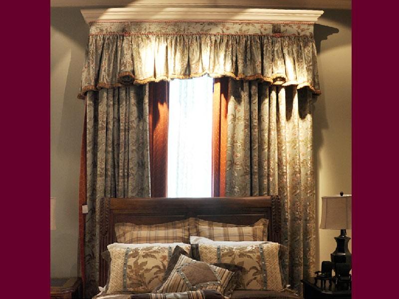 美式风格窗帘图片
