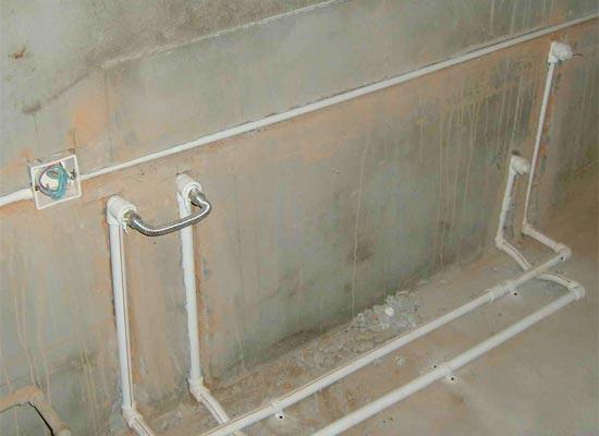 冷热水管安装不分