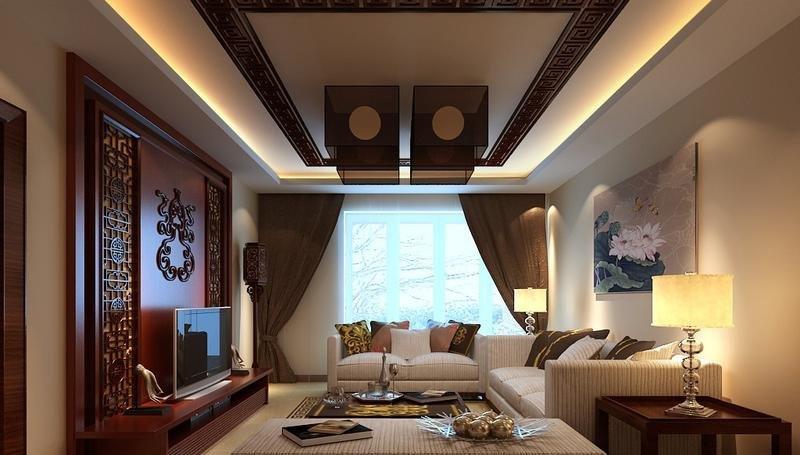 对房屋的需求就是居家舒适度第一位,对传统的中式元素有着深厚的情节,风格定位为舒适度较佳的简约中式风格,客厅里不做过多复杂的传统中式造型,用局部木作及木线来画龙点睛,再加上地面传统的回字纹元素圈边和吊灯的款式把中式的氛围烘托出来,家具采用舒适感较强的布艺沙