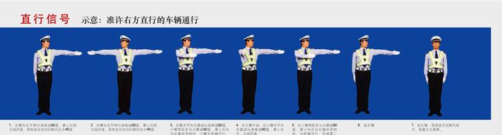 交通警察手势信号图解