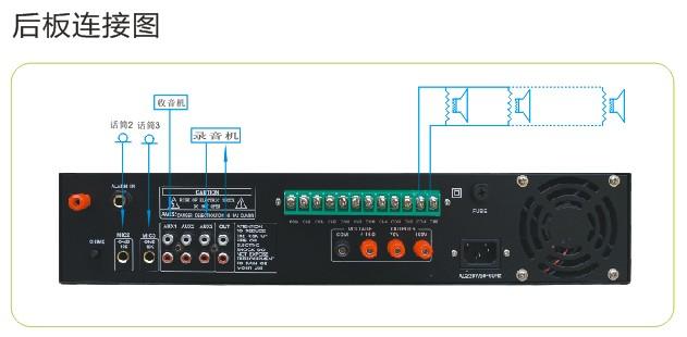 微电脑音乐控制之星采用国际先进的音频压缩技术,以MP3、WMA等文件格式储存音频数据;插U盘就可以直接播放,以微电脑控制技术为核心,以领先的现代智能公共广播为设计理念。 1.U盘存储(容量大小可随时更换),没有机械磨损,彻底免维修。 2.以MP3、WMA等文件格式储存音乐,彻底抛弃传统的语言录音芯片的种种缺陷。 3.