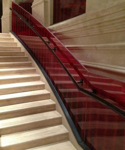 玻璃护栏_西宁实木楼梯