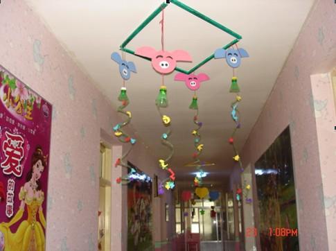 我园制作的手工作品_西宁幼儿园
