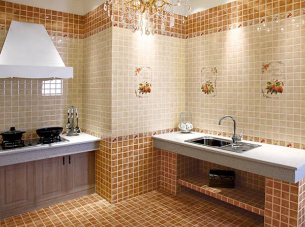 欧式厨房厕所砖的颜色装修效果图