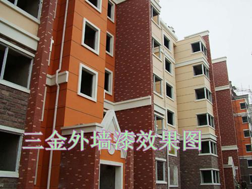 红色外墙砖搭配黑灰色涂料别墅图片